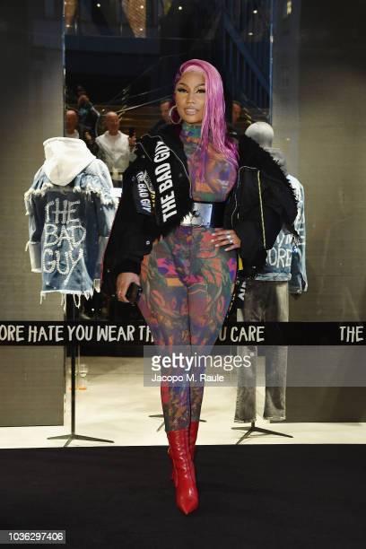 Nicki Minaj attends Diesel Hate Couture on September 19 2018 in Milan Italy