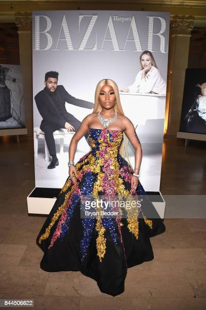 Nicki Minaj attends Harper's BAZAAR Celebration of 'ICONS By Carine Roitfeld' at The Plaza Hotel presented by Infor Laura Mercier Stella Artois...