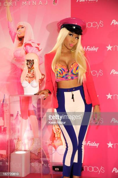 Nicki Minaj attends her 'Pink Friday' fragrance launch at Macy's Herald Square on September 24 2012 in New York City