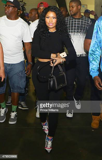 Nicki Minaj attends Hot 1079 Birthday Bash Block Show at Philips Arena on June 20 2015 in Atlanta Georgia