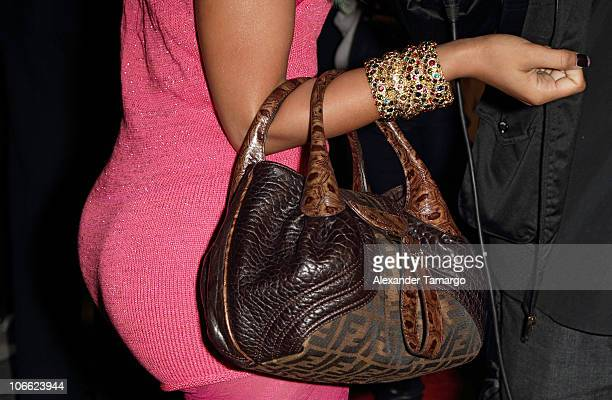 Nicki Minaj attends Lil Wayne Welcome Home party hosted by Cash Money Records on November 7 2010 in Miami Florida