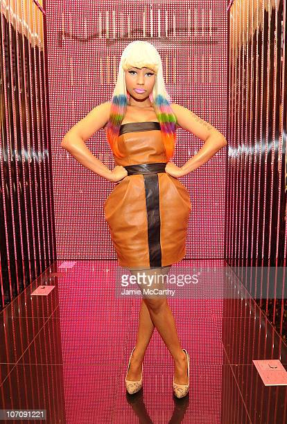 Nicki Minaj attends MAC + Nicki Minaj launch of Pink Friday Lipstick at MAC Times Square on November 23, 2010 in New York City.