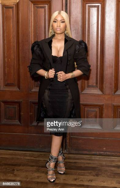 Nicki Minaj attends Marc Jacobs Spring 2018 Show Red Carpet at Park Avenue Armory on September 13 2017 in New York City