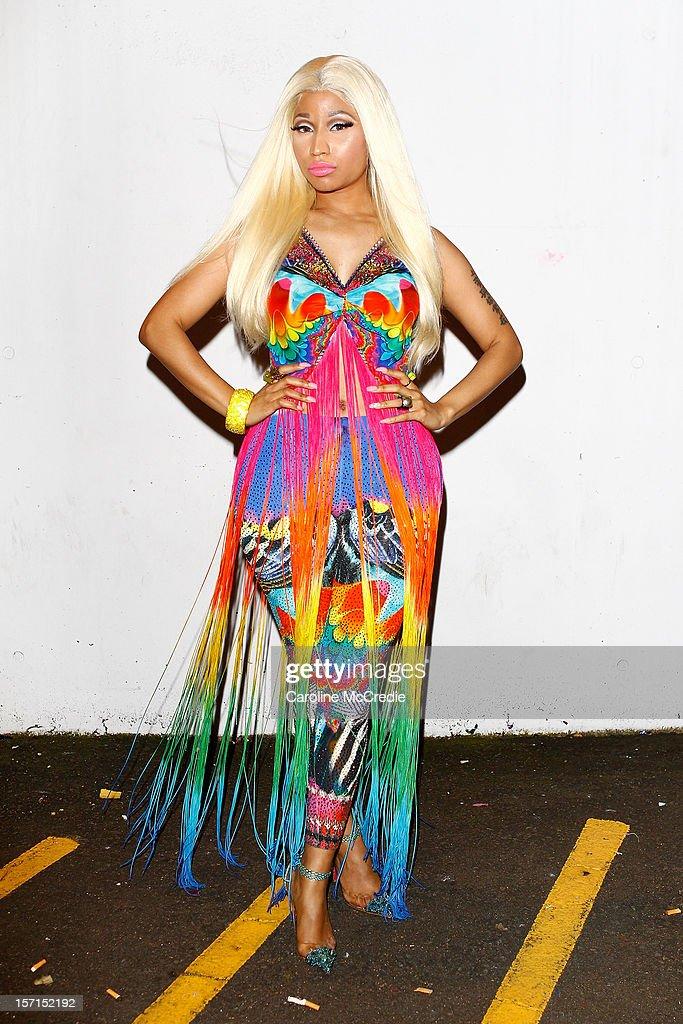 Nicki Minaj attends the 26th Annual ARIA Awards 2012 at the Sydney Entertainment Centre on November 29, 2012 in Sydney, Australia.
