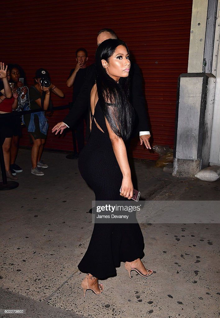 Nicki Minaj attends the Alexander Wang show during New York Fashion Week at Pier 94 on September 10, 2016 in New York City.