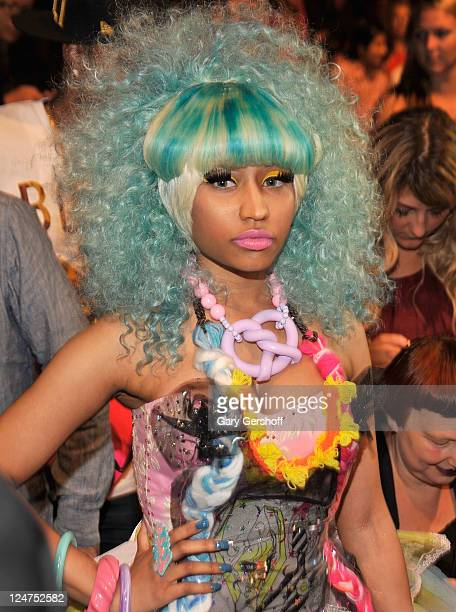 Nicki Minaj attends the Betsey Johnson Spring 2012 fashion show during MercedesBenz Fashion Week at The Theater at Lincoln Center on September 12...