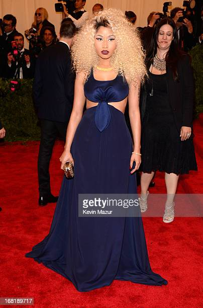 Nicki Minaj attends the Costume Institute Gala for the PUNK Chaos to Couture exhibition at the Metropolitan Museum of Art on May 6 2013 in New York...