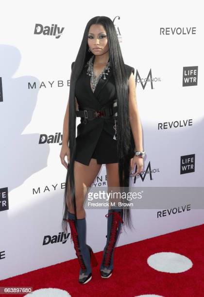 Nicki Minaj attends the Daily Front Row's 3rd Annual Fashion Los Angeles Awards at Sunset Tower Hotel on April 2 2017 in West Hollywood California
