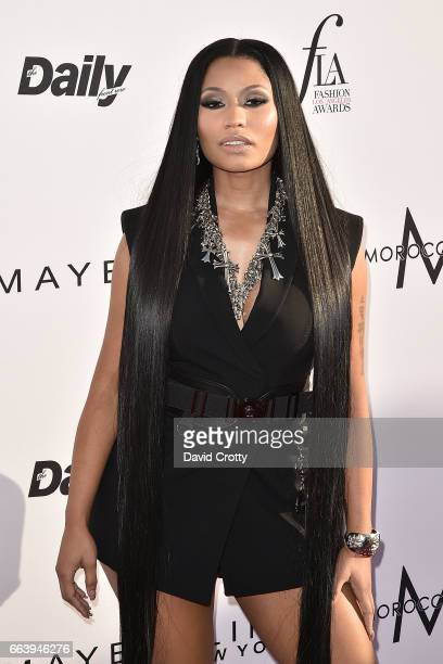 Nicki Minaj attends the Daily Front Row's 3rd Annual Fashion Los Angeles Awards - Arrivals at Sunset Tower Hotel on April 2, 2017 in West Hollywood,...