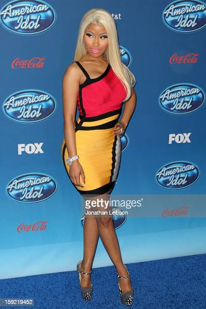 Nicki Minaj attends the FOX's American Idol Season 12 Premiere at Royce Hall on the UCLA Campus on January 9 2013 in Westwood California