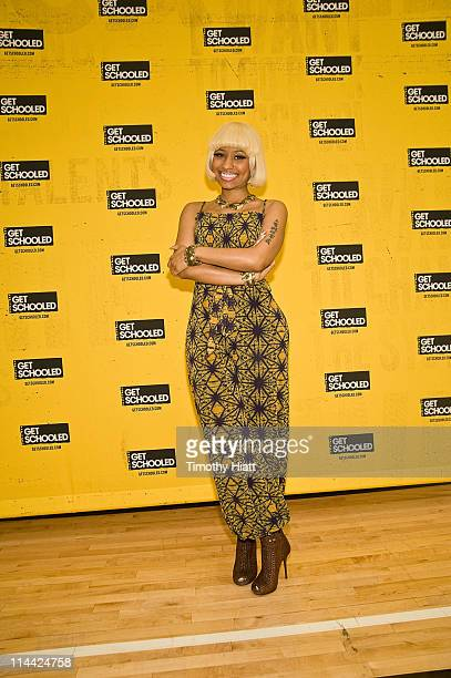 Nicki Minaj attends The Get Schooled Foundation and Nicki Minaj surprise students at Collins Academy High School on May 19 2011 in Chicago Illinois
