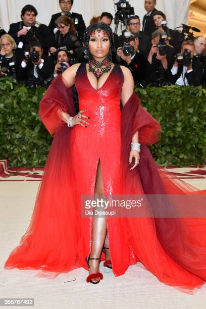 Nicki Minaj attends the Heavenly Bodies Fashion The Catholic Imagination Costume Institute Gala at The Metropolitan Museum of Art on May 7 2018 in...