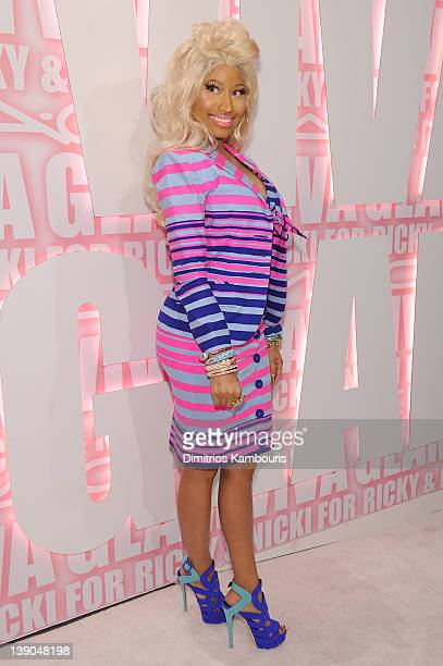 Nicki Minaj attends the MAC Cosmetics Viva Glam Party at Stage 37 on February 15 2012 in New York City