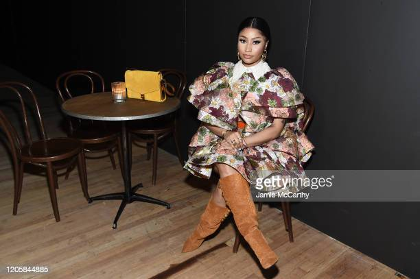 Nicki Minaj attends the Marc Jacobs Fall 2020 runway show during New York Fashion Week on February 12 2020 in New York City