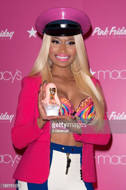 Nicki Minaj attends the Pink Friday fragrance launch at Macy's Herald Square on September 24 2012 in New York City