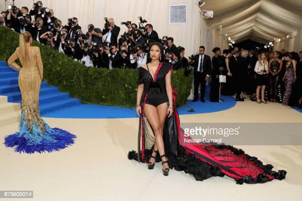 Nicki Minaj attends the 'Rei Kawakubo/Comme des Garcons Art Of The InBetween' Costume Institute Gala at Metropolitan Museum of Art on May 1 2017 in...