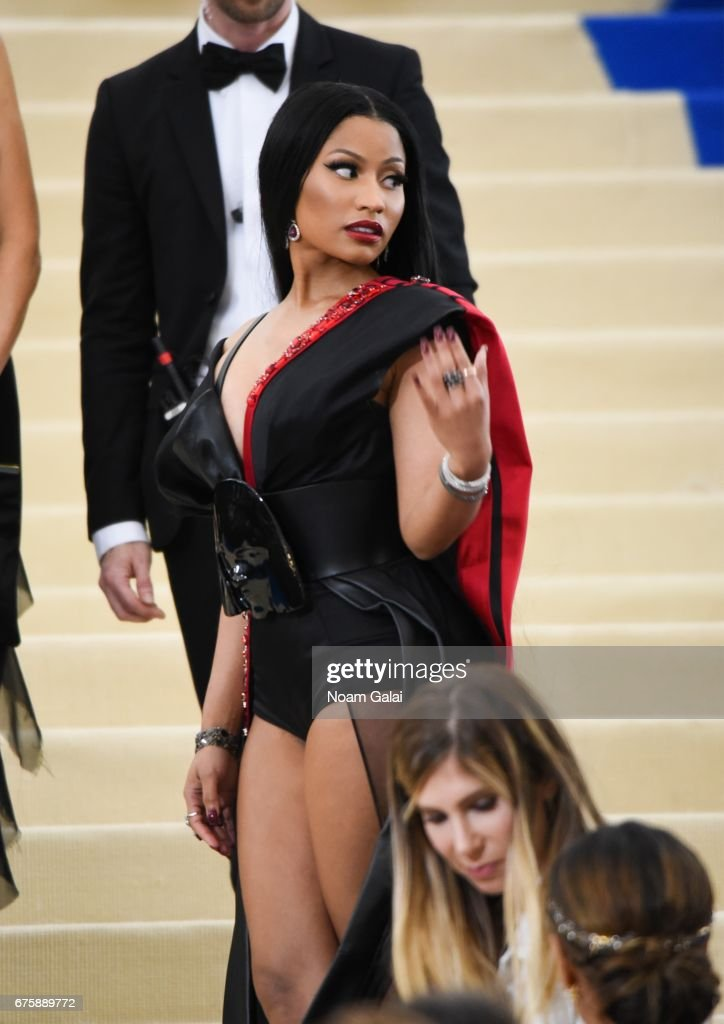 Nicki Minaj attends the 'Rei Kawakubo/Comme des Garcons: Art Of The In-Between' Costume Institute Gala at Metropolitan Museum of Art on May 1, 2017 in New York City.