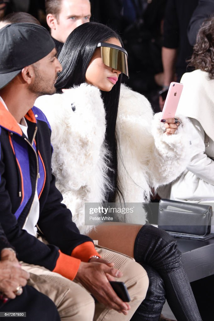 Nicki Minaj attends the Rick Owens show as part of the Paris Fashion Week Womenswear Fall/Winter 2017/2018 on March 2, 2017 in Paris, France.