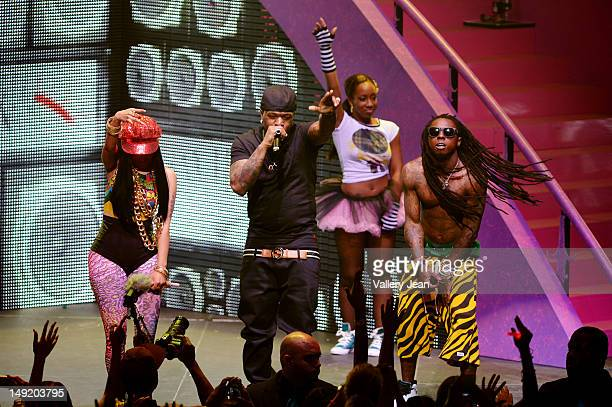 Nicki Minaj Birdman and Lil Wayne perform at James L Knight Center on July 24 2012 in Miami Florida