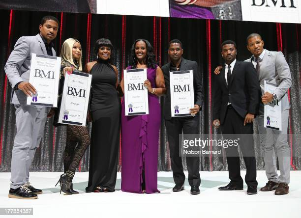 Nicki Minaj Catherine Brewton and Ray J onstage at the 2013 BMI RB/HipHop Awards at Hammerstein Ballroom on August 22 2013 in New York City