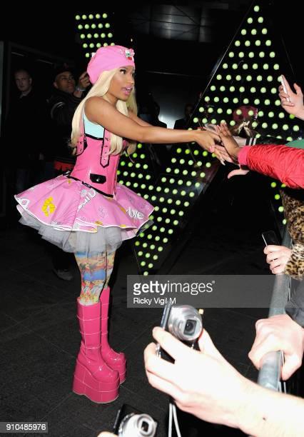Nicki Minaj departs the W Hotel on April 19 2012 in London England