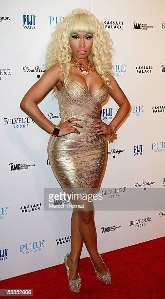 Nicki Minaj hosts New Year's Eve at the Pure Nightclub at Caesars Palace on December 31 2012 in Las Vegas Nevada