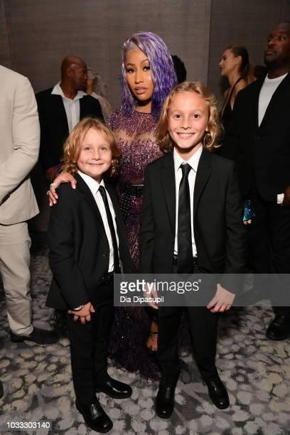 Nicki Minaj Hudson Kroenig and Jameson Kroenig attend Daily Front Row's Fashion Media Awards on September 6 2018 in New York City