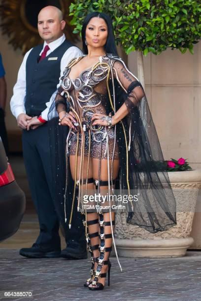 Nicki Minaj is seen on April 03 2017 in Los Angeles California