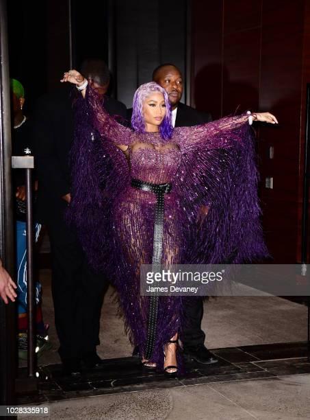 Nicki Minaj leaves the Daily Front Row's 2018 Fashion Media Awards at Park Hyatt New York on September 6 2018 in New York City