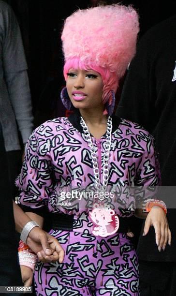 Nicki Minaj leaving the Dorchester Hotel on January 20 2011 in London England