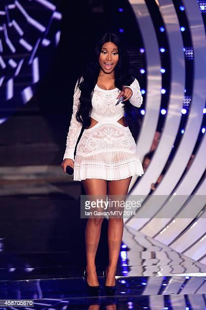 Nicki Minaj on stage during the MTV EMA's 2014 at The Hydro on November 9 2014 in Glasgow Scotland