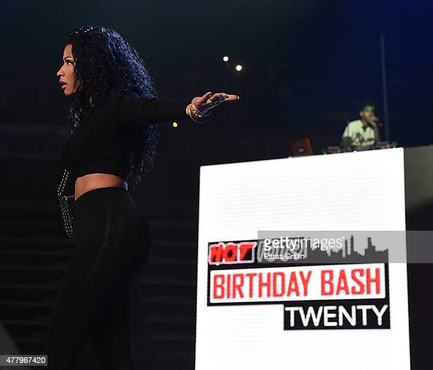Nicki Minaj onstage at Hot 1079 Birthday Bash Block Show at Phillips Arena on June 20 2015 in Atlanta Georgia