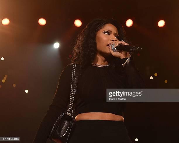 Nicki Minaj onstage at Hot 1079 Birthday Bash Block Show at Phillips Arena on June 20 2015 in Atlanta Georgia