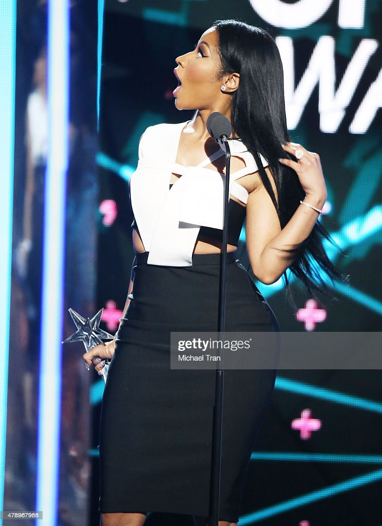 Nicki Minaj onstage during the 2015 BET Awards held at Microsoft Theater on June 28, 2015 in Los Angeles, California.