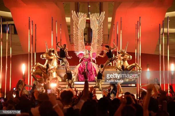 Nicki Minaj peforms at the 2018 MTV Video Music Awards at The Oculus on August 20 2018 in New York City