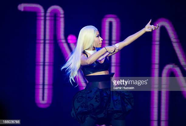Nicki Minaj pefroms at the O2 Arena on October 30 2012 in London England
