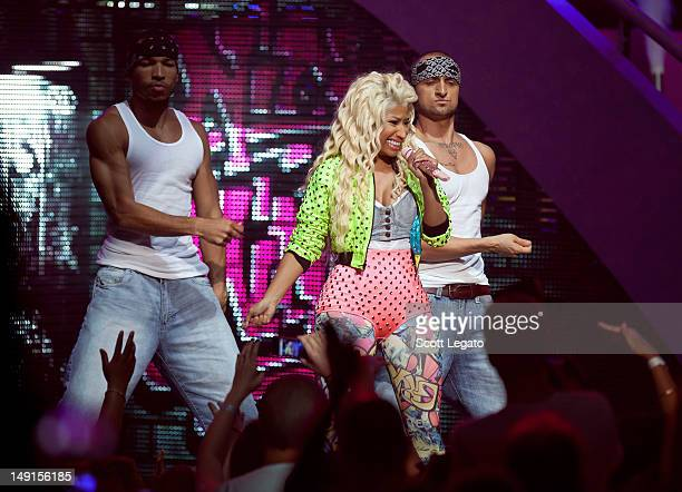 Nicki Minaj perfoms during the Pink Friday Tour at The Fox Theatre on July 17 2012 in Detroit Michigan