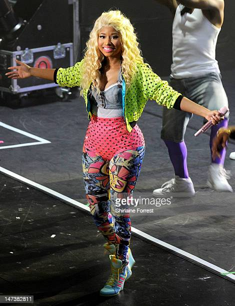 Nicki Minaj performs a sold out show at Manchester Apollo on June 28 2012 in Manchester England