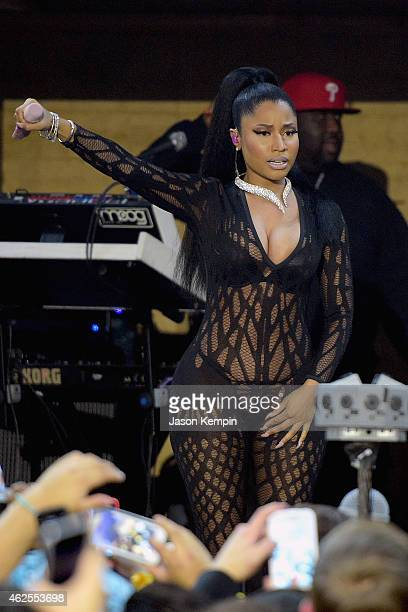 Nicki Minaj performs at Bud Light House of Whatever on January 30 2015 Bud Light House of Whatever is the ultimate #UpForWhatever experience...
