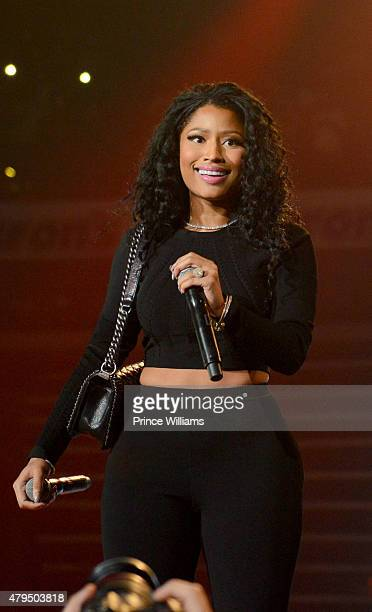 Nicki Minaj performs at Hot 1079 Birthday Bash Block Show at Philips Arena on June 20 2015 in Atlanta Georgia