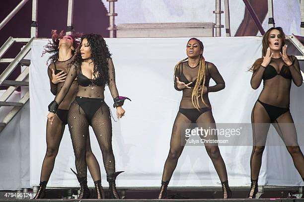 Nicki Minaj performs at Roskilde Festival on July 4 2015 in Roskilde Denmark