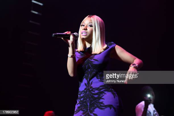 Nicki Minaj performs at the 2013 On Da Reggae Tip concert event at Hammerstein Ballroom on August 30 2013 in New York City