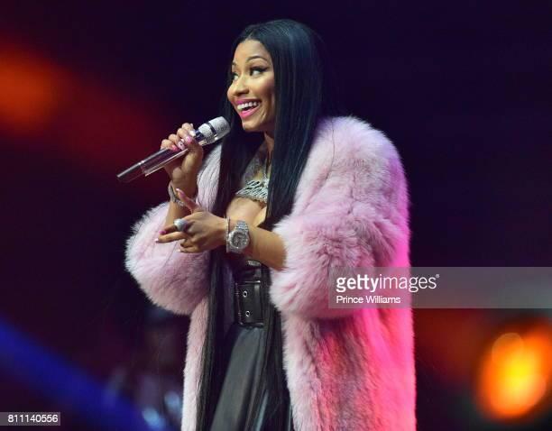 Nicki Minaj performs at the Hot 1079 Birthday Bash at Philips Arena on June 17 2017 in Atlanta Georgia
