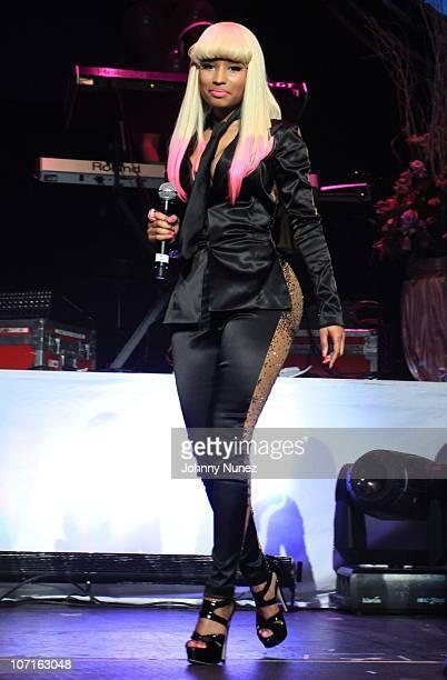 Nicki Minaj performs at the Hot 97 Thanksgiving Thank you Concert at Hammerstein Ballroom on November 25 2010 in New York City