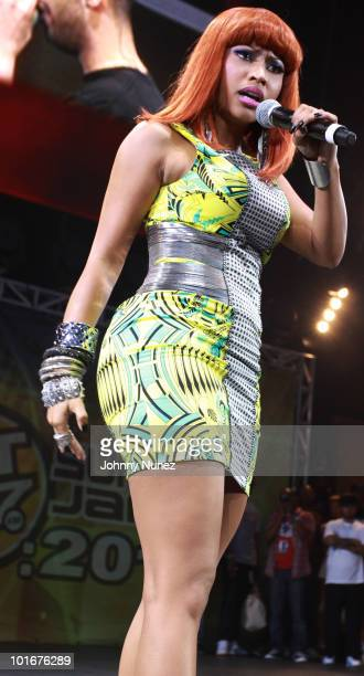 Nicki Minaj performs during Hot 97 Summer Jam 2010 at the Meadowlands Sports Complex on June 6 2010 in East Rutherford New Jersey