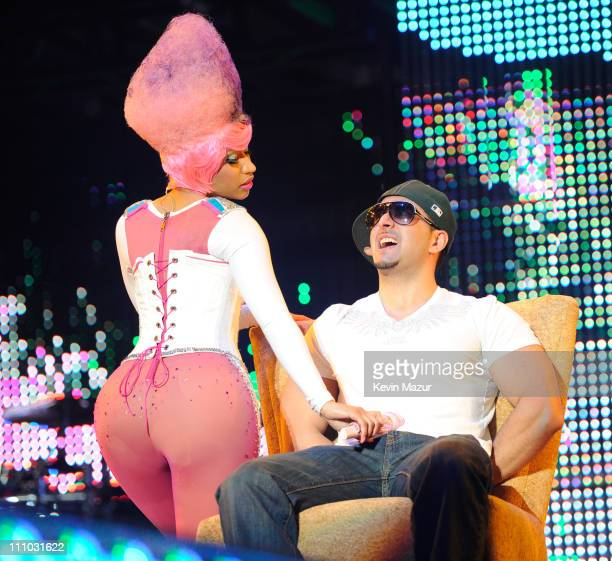 Nicki Minaj performs during Lil Wayne's I Am Music tour at Nassau Veterans Memorial Coliseum on March 28 2011 in Uniondale New York