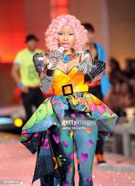 Nicki Minaj performs during the 2011 Victoria's Secret Fashion Show at the Lexington Avenue Armory on November 9, 2011 in New York City.