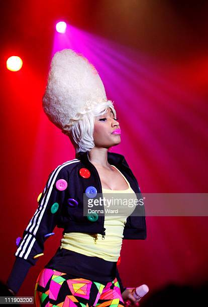 Nicki Minaj performs during the Casio Tryx digital launch at the Best Buy Theatre on April 7 2011 in New York City