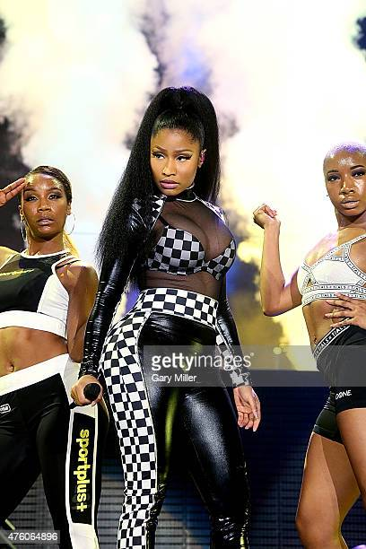 Nicki Minaj performs in concert during the X Games at Austin360 Amphitheater on June 5, 2015 in Austin, Texas.