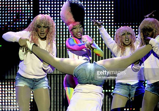 Nicki Minaj performs in support of her Pink Friday release at Oracle Arena on April 24 2011 in Oakland California